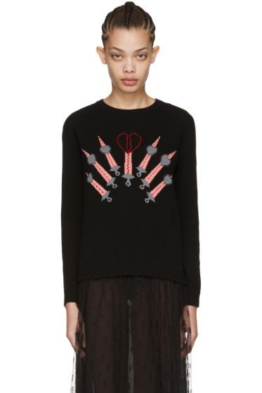 Valentino - Black Love Blade Sweater