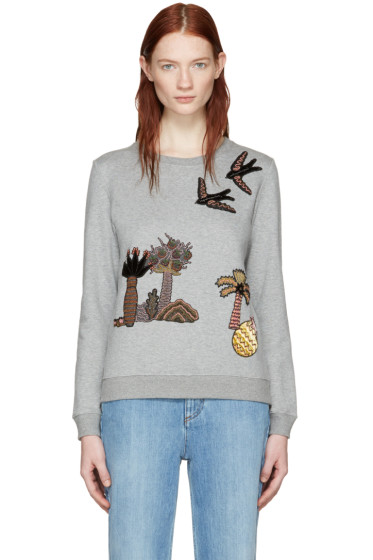 Valentino - Grey Garden Of Delight Pullover