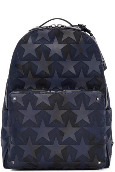 Valentino - Navy Camustars Backpack