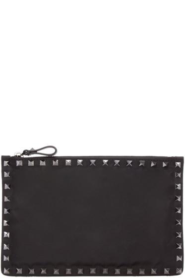 Valentino - Black Nylon Rockstud Pouch