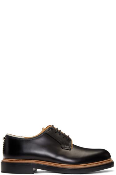 Valentino - Black Leather Runway Derbys