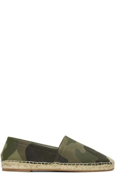 Valentino - Green Camo Espadrilles