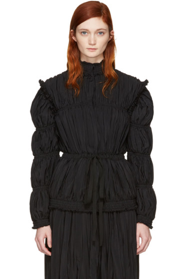 J.W. Anderson - Black Pleated Jacket