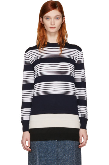 J.W. Anderson - Navy Layered Pullover