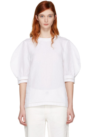 J.W. Anderson - White Puff Sleeve Blouse