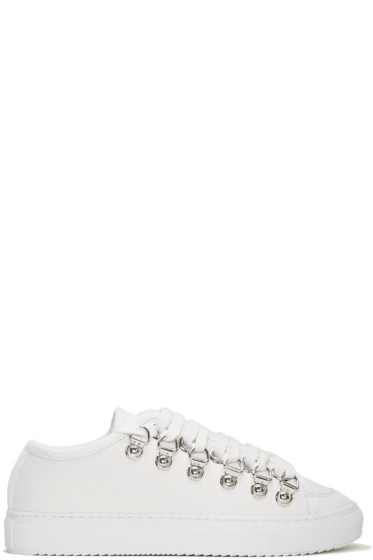 J.W. Anderson - White Canvas Sneakers