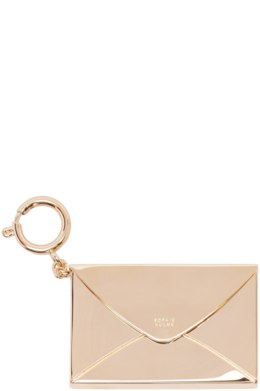 Sophie Hulme - Gold Stationary Envelope Keychain