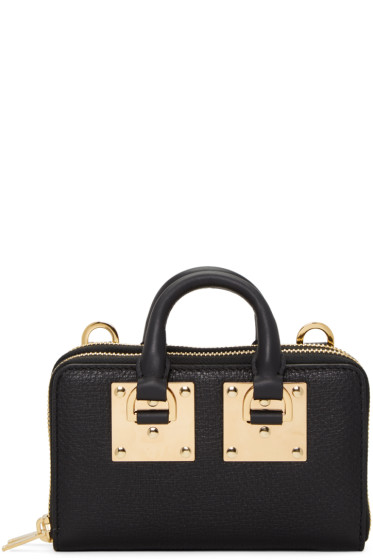 Sophie Hulme - Black Medium Albion Double Zip Wallet Bag