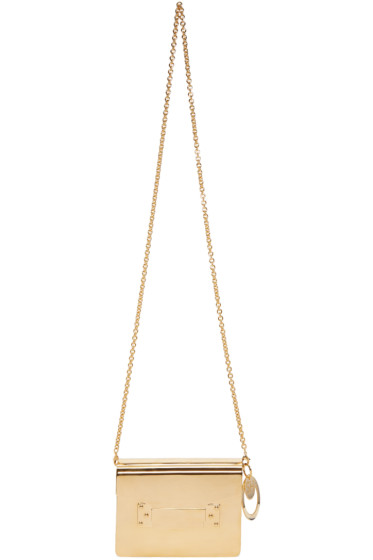 Sophie Hulme - Gold Compton Envelope Clutch