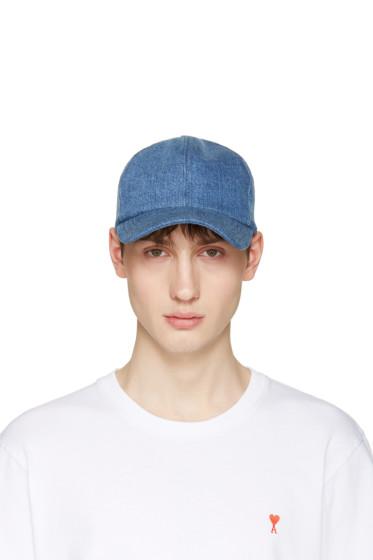 AMI Alexandre Mattiussi - Blue Denim Cap
