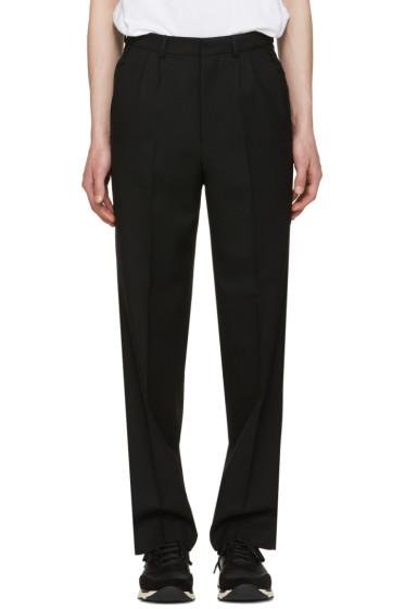 AMI Alexandre Mattiussi - Black Wool Twill Trousers