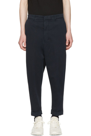 AMI Alexandre Mattiussi - Navy Oversized Carrot Trousers