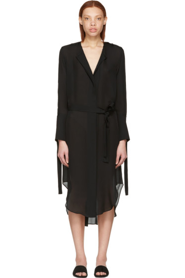 Calvin Klein Collection - Black Leryn Shirt Dress