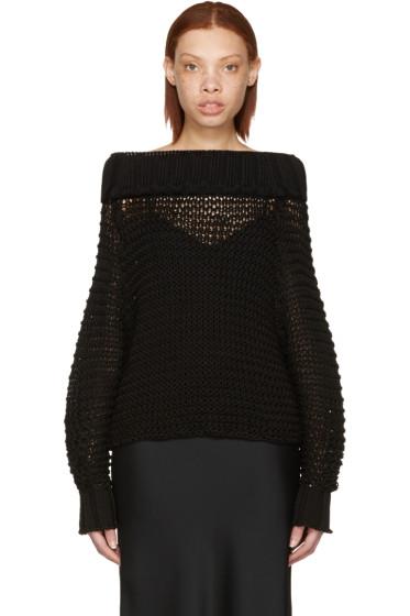Calvin Klein Collection - Black Ebner Off-the-Shoulder Sweater