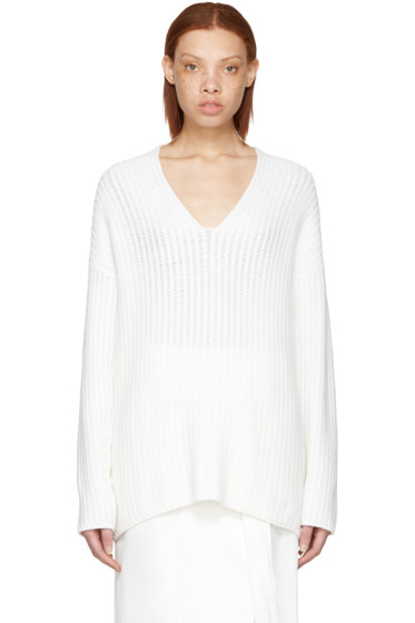 Calvin Klein Collection - White Cashmere Etienne Sweater