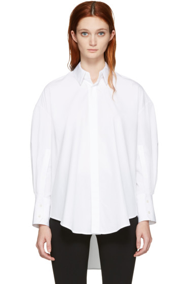 Calvin Klein Collection - White Boxy Khia Shirt