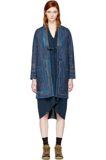 Visvim - Blue Denim Ruunpe Coat