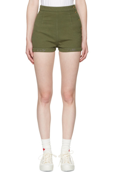 Visvim - Green Damaged Priscilla Chino Shorts