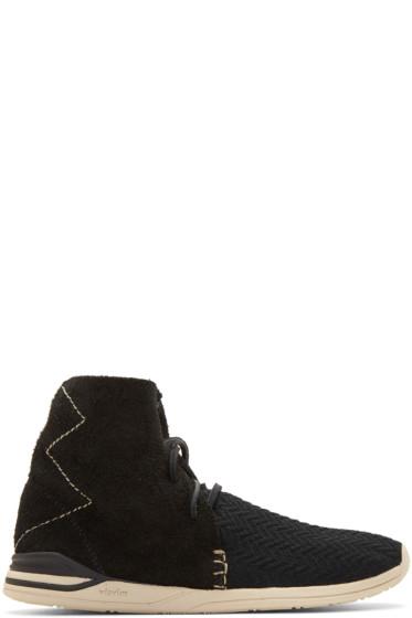Visvim - Black Huron Mesh Moc Hi-Folk Sneakers
