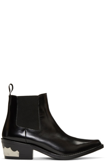 Toga Pulla - Black Harness Chelsea Boots