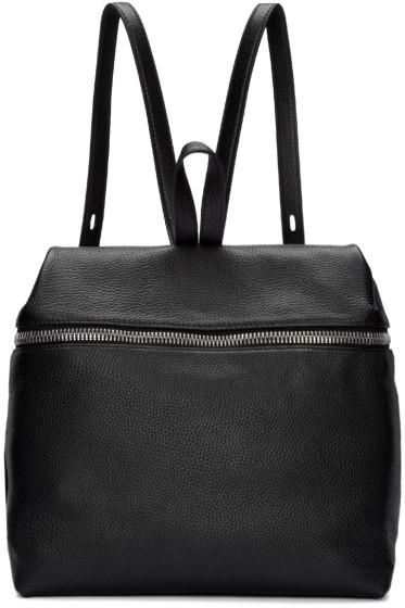 Kara - Black Large Leather Backpack