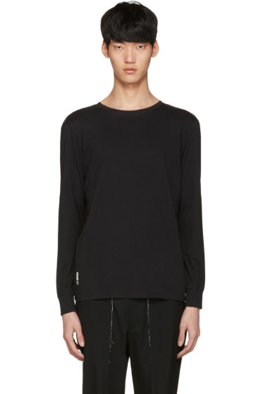 Yang Li - Black Ribbed Panel Pullover