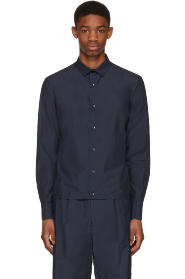 Kolor - Navy Button-Down Shirt