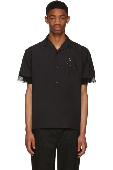 Kolor - Black Button-Down Shirt