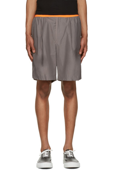 Kolor - Grey Poplin Shorts