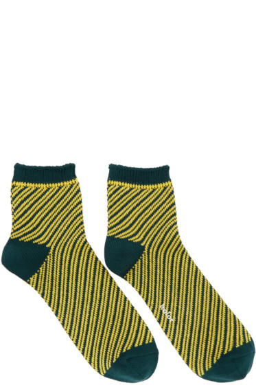 Kolor - Green Striped Socks