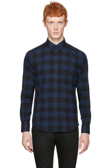 Naked & Famous Denim - Blue Check Regular Shirt