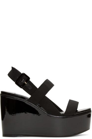 Jimmy Choo - Black Nazil Wedge Sandals