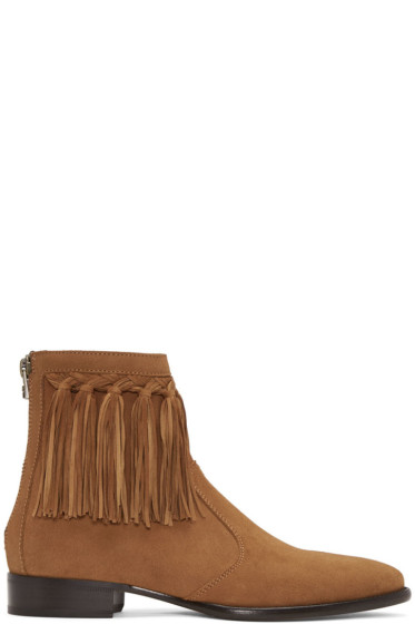 Jimmy Choo - Tan Suede Eric Boots
