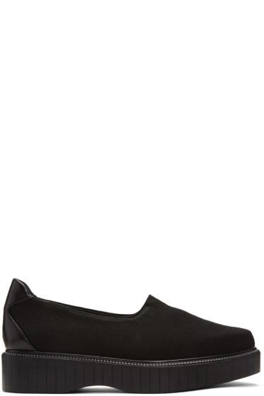 Robert Clergerie - Black Pauli Jersey Slip-On Sneakers