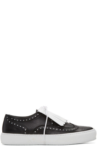 Robert Clergerie - Black Tolka Brogue Sneakers