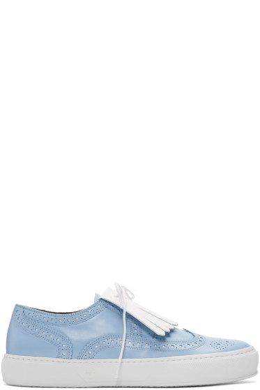 Robert Clergerie - Blue Tolka Brogue Sneakers