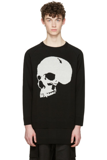 D.Gnak by Kang.D - Black Jacquard Skull Pullover