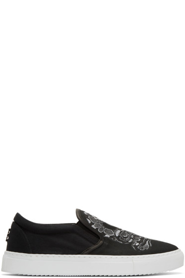 Marcelo Burlon County of Milan - Black Graziana Slip-On Sneakers