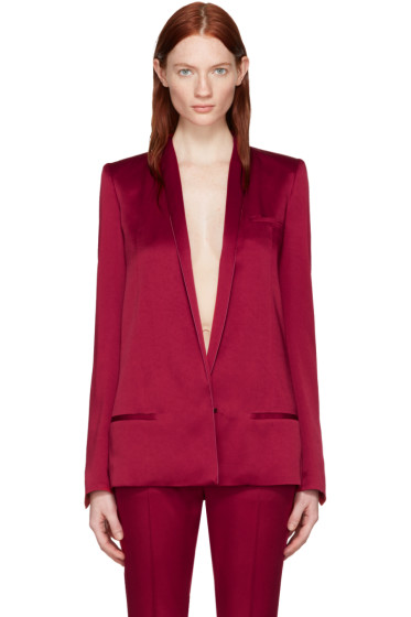 Haider Ackermann - Red Satin Classic Blazer