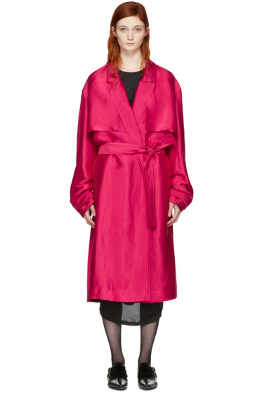 Haider Ackermann - Pink Twill Trench Coat