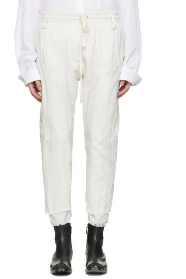 Haider Ackermann - White Polonium Lounge Pants