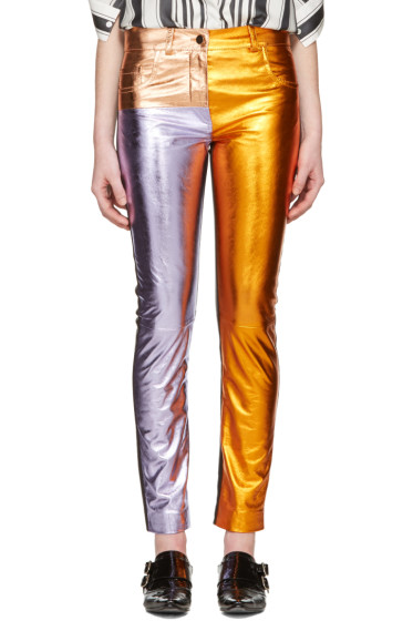 Haider Ackermann - Multicolor Metallic Leather Pants