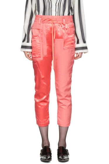 Haider Ackermann - Pink Patchwork Lounge Pants