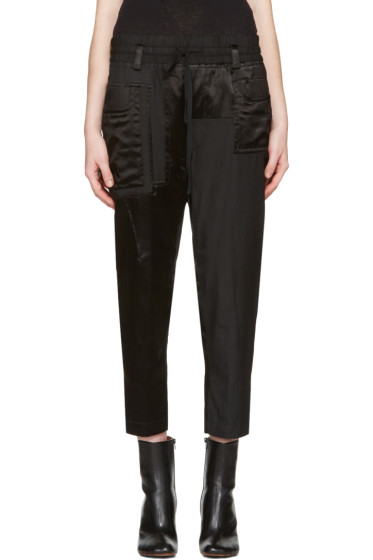Haider Ackermann - Black Patchwork Lounge Pants