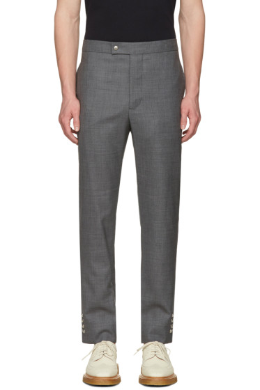 Moncler Gamme Bleu - Grey Button Cuff Trousers