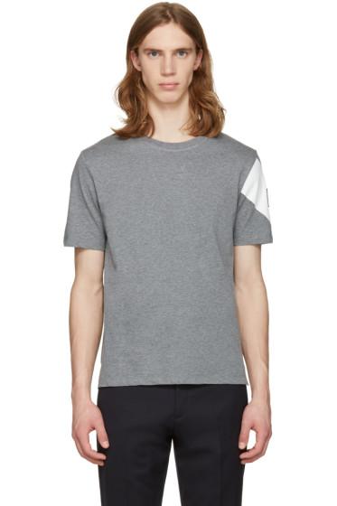 Moncler Gamme Bleu - Grey Sleeve Detail T-Shirt