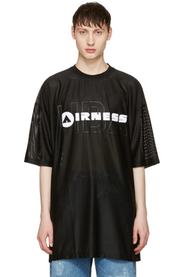 Hood by Air - Black 'Airness' T-Shirt