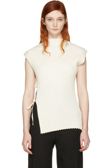 Jacquemus - Ecru 'La Maille Rectangles' Turtleneck