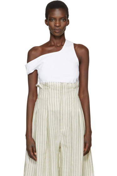 Jacquemus - White 'Le Marcel Qui Tombe' Tank Top