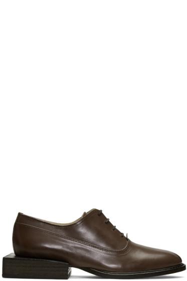 Jacquemus - Brown 'Les Chaussures Clown' Oxfords